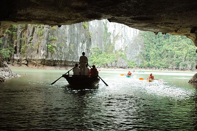 halong bay kayaking 3 week tour of Vietnam