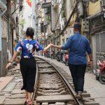 hanoi train street 13 day vietnam honeymoon package