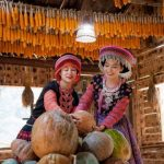 local people in their traditional house in sapa