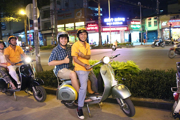 saigon vespa tour after dark vietnam tour itinerary 12 days