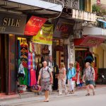 shopping at hanoi old quater with your family