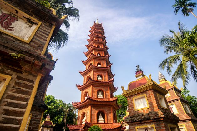tran quoc pagoda the scared pagoda in hanoi vietnam 21 day tour