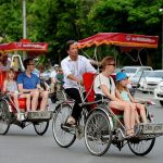 vietnam family vacation by cyclo