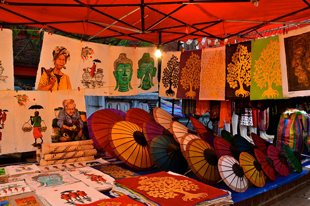 A souvenir shop in Luang Prabang Night Market