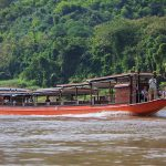 Boat trip along Mekong River HoueiSay