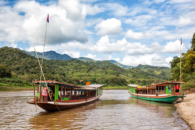Boat trip in Mekong River