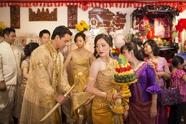 Bridge and Groom in Cambodia wedding