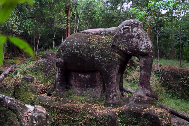Elephant carving in Kulen Mountains