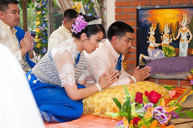 Khmer Cambodian wedding ceremony