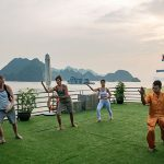 Morning Taichi in Halong Bay