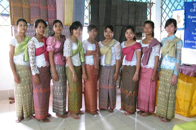 Sampot Hol Cambodia traditional costume