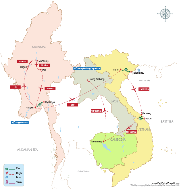 The Grand Circle of Indochina and Myanmar 22 days