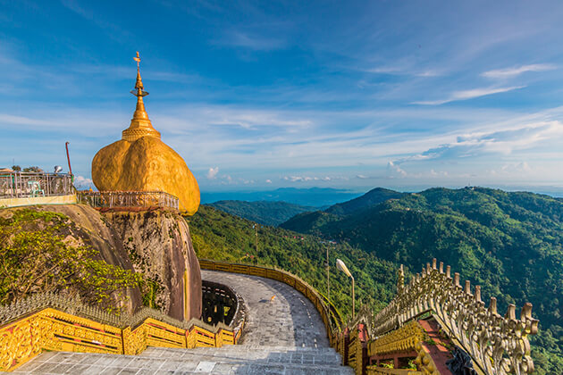 The golden rock in yangon