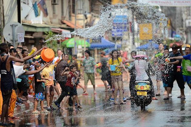 Water Splash Festival in Laos