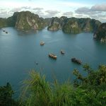halong bay paronamic view Myanamar and Indochina tour package