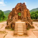red brick temple at my son holy land