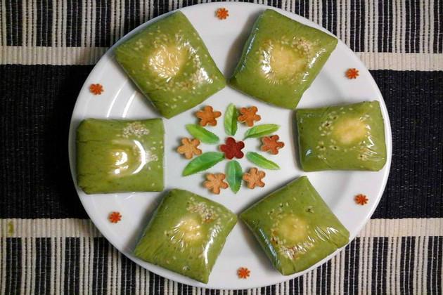 Banh Com Green Young Rice Cake Vietnamese Cake