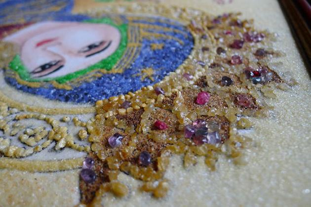 Gemstone paintings - what to buy Myanmar