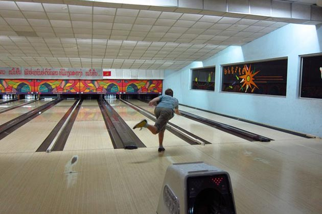 Laos bowling centre in Vientiane