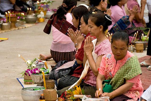 Laos Boun Khao Salak Festival