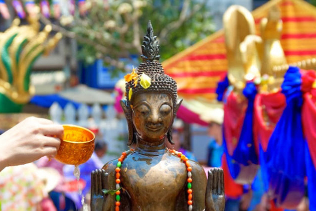 Laos Boun Pi Mai Festival