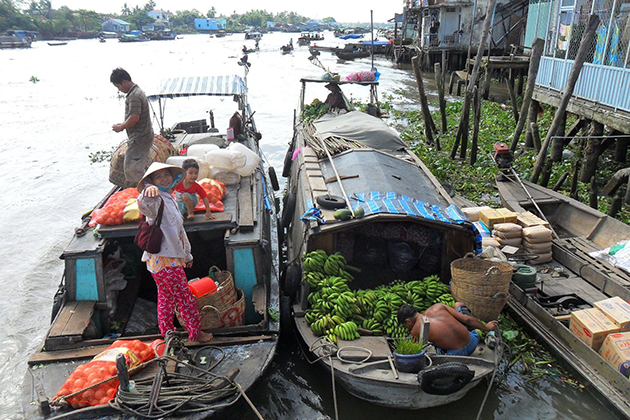 Life on the bank of Mekong Delta