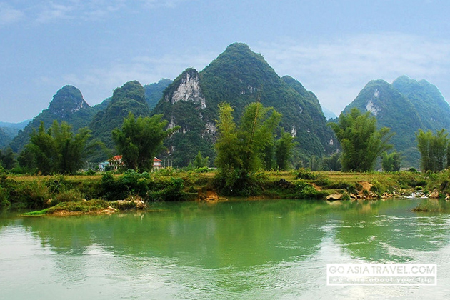 Scenic view of Cao Bang Province