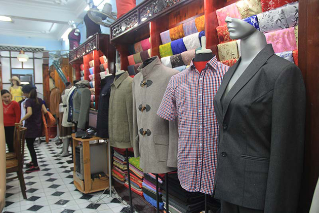 Tailor-made outfits in hoi an