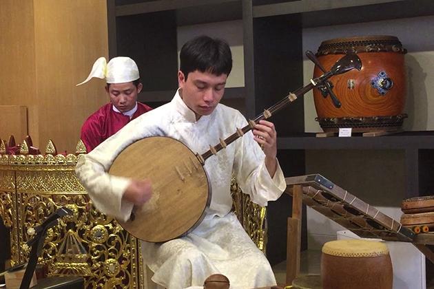 Vietnamese Traditional Instrument Dan Nguyet