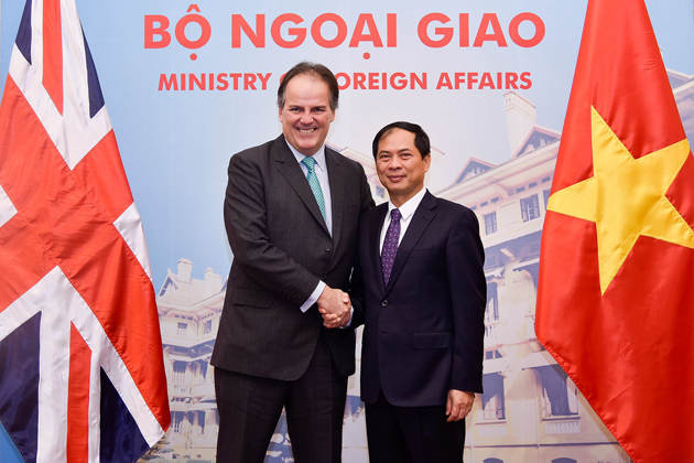 bristish embassy - cooperation between england and vietnam