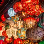 colorful lantern in hoi an ancient town