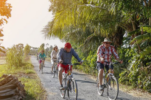 cycling tour in mekong delta