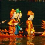 interesting water puppet show in hanoi