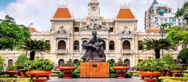 saigon city hall ho chi minh city vietnam classic tour 9 days