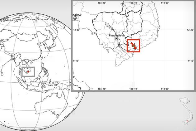 Ho Chi Minh travel map