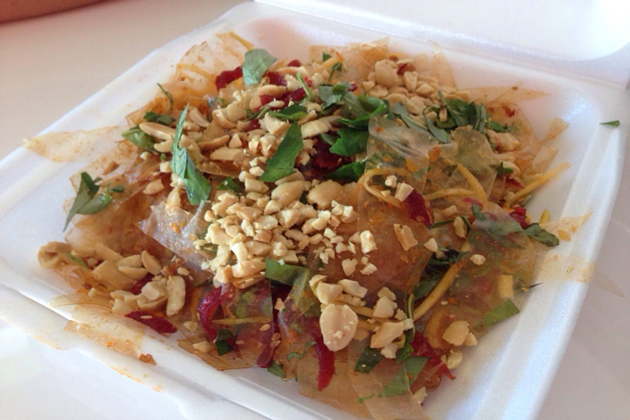 banh trang tron rice paper salad list of vietnamese food