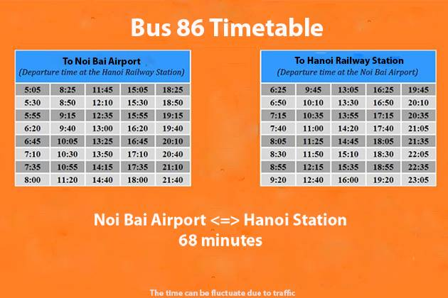 bus 86 time table