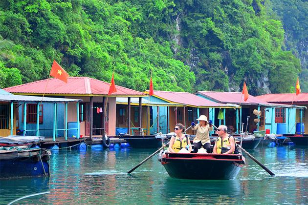 halong bay floating village halong bay cruise