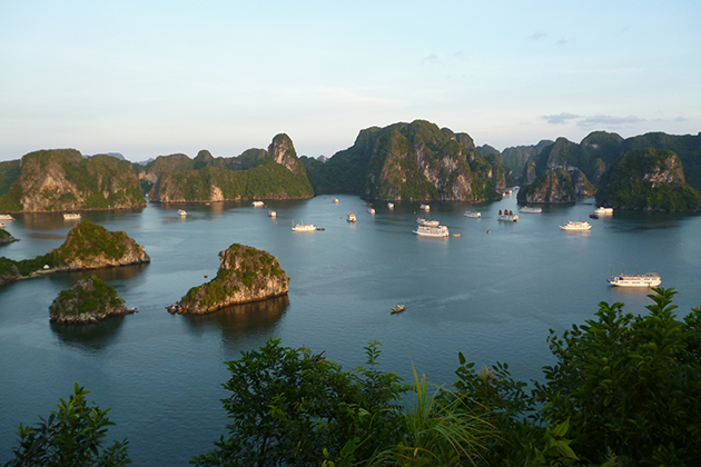 halong bay view from ti top island vietnam tour in 3 weeks