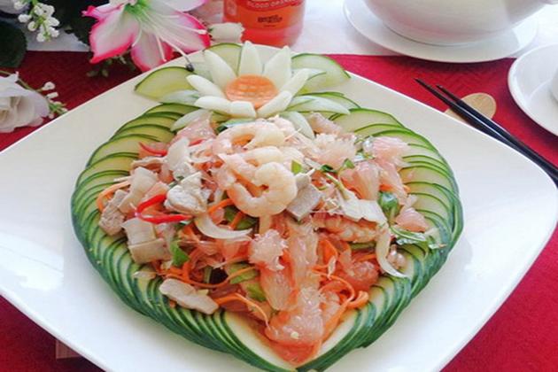 nom buoi pomelo salad vietnamese food list