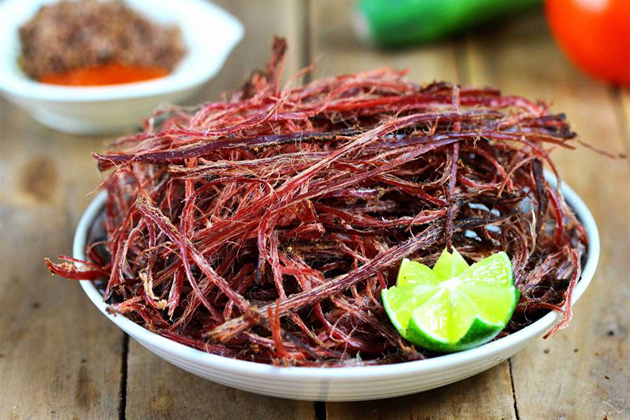 thit trau gac bep dried buffalo meat vietnamese food list