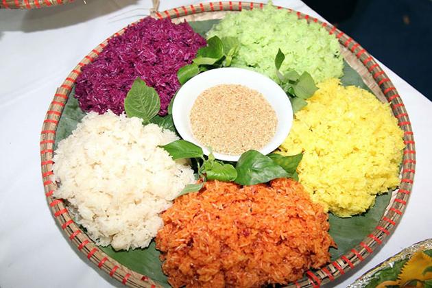 xoi ngu sac five colored sticky rice list of vietnamese food