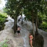 Climbing bua thong waterfalls in chiang mai