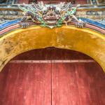 door at hue imperial city vietnam world heritage site