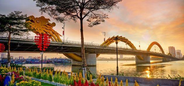 dragon bridge in danang vietnam travel packages