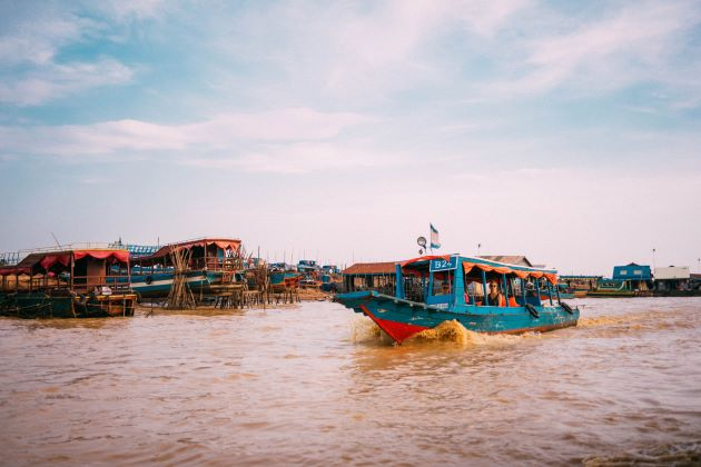 floating village at Chong Khneas in Cambodia