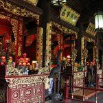 inside temple of literature in hanoi