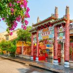 temple gate in hoi an ancient town