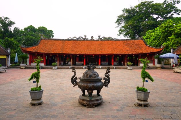 the main yard in temple of literature