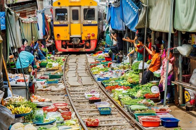 train market in thailand